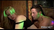 Hard core gangbang in night club