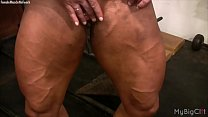 Female Bodybuilder Lisa Cross Plays with her Fu...