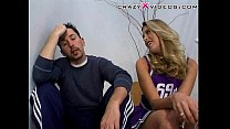 blond cheerleader cheers up her looser bF