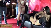 Hot amazing babe brunette gets fucked on stage