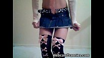 Emo Shemale Strips on Cam!