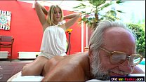 londe hottie aria logan give a massage to a grandpa
