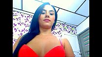 Latina showing her asshole and feet on webcam -...