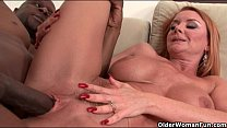 milf s big tits get a cum coating
