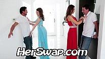 Riley Reid vs Melissa Moore Hump BFF Dad at Pr...