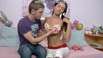 Hot sex video with a teen bombshell scene 2 thumbnail