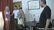 Family Fucks Their Son's Girlfriend