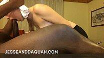 PYT White girl sucking big black dick