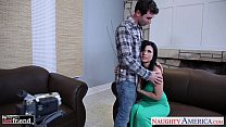 Chesty brunette Eva Angelina gets facialized - download porn videos