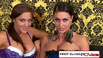 Jessica Jaymes and Kiera King suck and fuck 10 ...