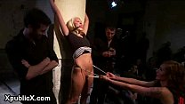 Blonde helpless bdsm babe dp fucked in public porn videos