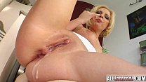 All Internal Blonde's holes penetrated and cum ...