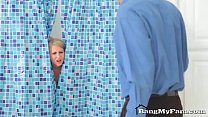 pervy step son fucks hot mommy alice chambers in the shower