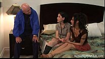 threesome swinger with a creampie
