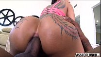 bella gets pounded in the ass by her bf with a big black cock