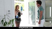 TeamSkeet - Sexy Busty Maid Fucks Huge Cock)