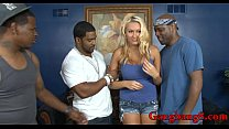 Blondie whore asshole rammed by massive black b...