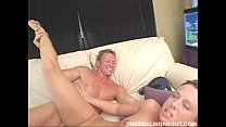 horny blond chick enjoying a hard fuck from her...
