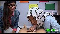 Mia Khalifa teaches her muslim friend how to suck cock 3 92
