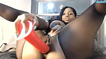 jada fire sexy ebony showing pink