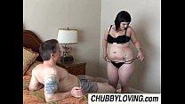 Cute chubby goth Candi enjoys a sticky facial c...