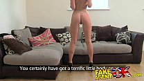 FakeAgentUK Beautiful petite blonde gives amazi...