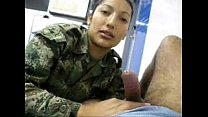 Female Soldier sucks my cock in uniform - more ...