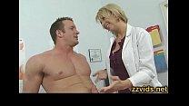 Horny blonde doctor Brianna Beach fucked hard