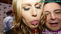 Pornstar Sasha Heart plays with her spit for An...