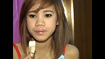 Cute titty Thai Tia 18 loves licking