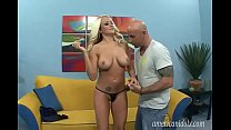 Amazing blonde with sexy boots banged hard thumb