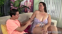 ... reamed pussy her gets angelina bbw hungry Cock