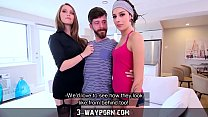 neutre  3 way porn   threesome for newbie actor with hot blonde and petite brunette