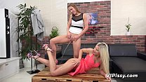 Dido Angel intimately licks pussy and drinks pee
