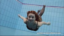 Zuzanna is swimming in pantyhose in the pool porn videos