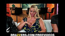 Slutty blonde MILF Karen Fisher is slammed on t...