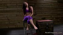 Tied up in ropes brunette rougly fucked in dungeon thumbnail