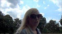 Blonde babe Axa Jays exhibitinist adventures an...