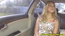 Stranded blonde teen fucked pov style