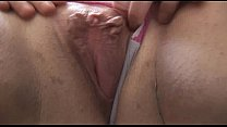 Large breasted mature BBW in stockings strips a...