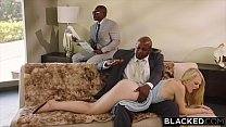 BLACKED Submissive girlfriend punished by two b...