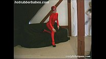 t rubber babe spreading ass