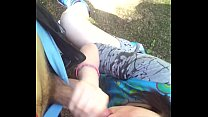Quick blowjob at the park by 19 years old
