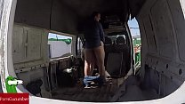 abandonada... furgoneta una en gorda la a Enculada