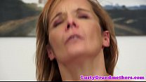 Anally pounded gilf gets creampied