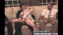 Bisexual Britni Gets a Tampa Bukkake Cheerleade...