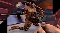 Mass Effect - Jack and Shepard Romance - Compilation - download porn videos