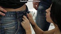 Very Erotic Babe Kameya Is Pleasing Two Hard Ram Rods