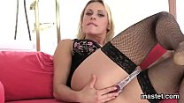 usual czech cutie opens up her tight cunt to the extreme