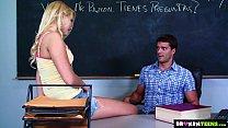 BrokenTeens - Vanessa Cage Has a Crush on the Spanish Teacher porn videos